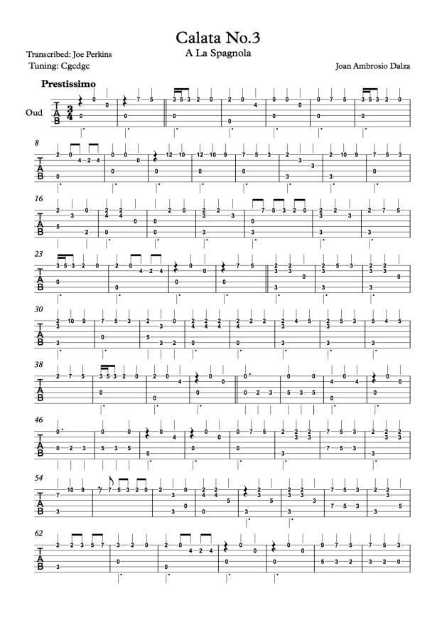 Calata No.3 - Joe Perkins - Page 1.