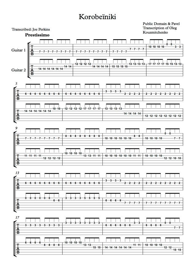 Korobeïniki - Joe Perkins - Page 1.