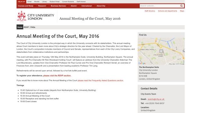 City University - Annual Meeting